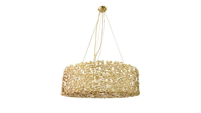 eternity chandelier by koket gold and crystal jewelry lighting