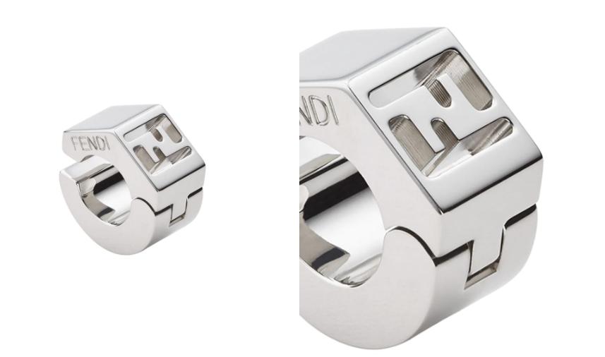 summer 2021 men fashion trends Fendi Single FF Engraved Cuff Earrings from Farfetch