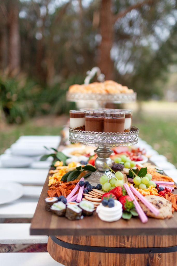 outdoor garden party buffet elegant