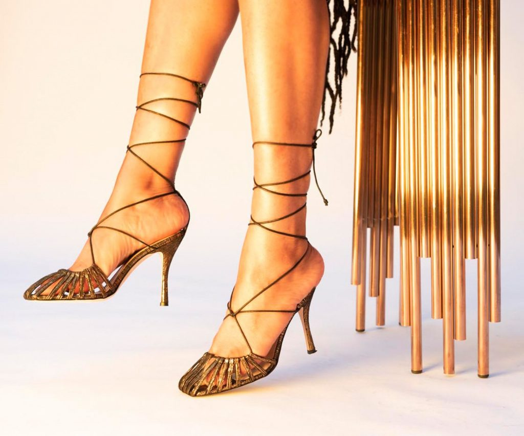 Retro Gold Finn Sandals by Chelsea Paris