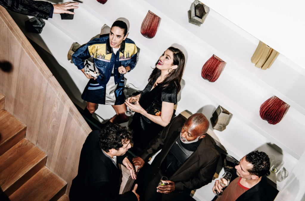 """Hosting the T Magazine """"Greats Issue"""" with Rachel Weisz, Jennifer Connelly, Nicolas Ghesquière at Casa Perfect gallery by The Future Perfect in NYC."""