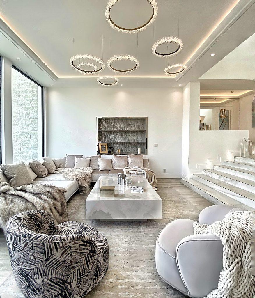 luxury living room neutral hollywood hills ca caroline's design
