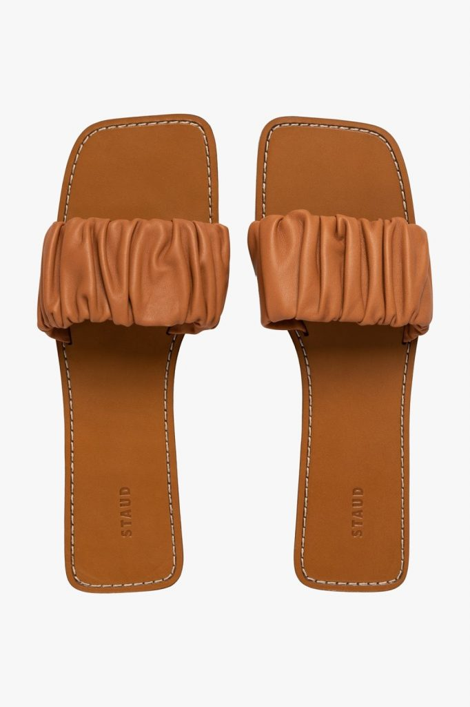 Nina Ruched Sandal by Staud