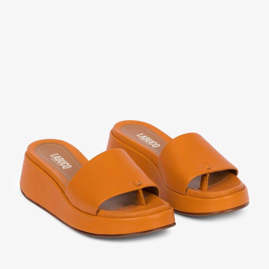 what sandals are in style for 2021 Solar Slide Marigold Nappa from LABUCQ