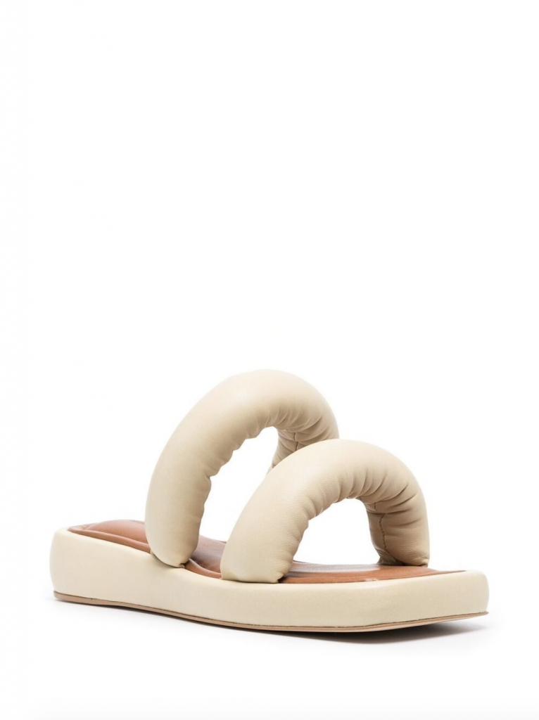 puffy padded flip flop trend Rejina Pyo Billie Leather Sandals