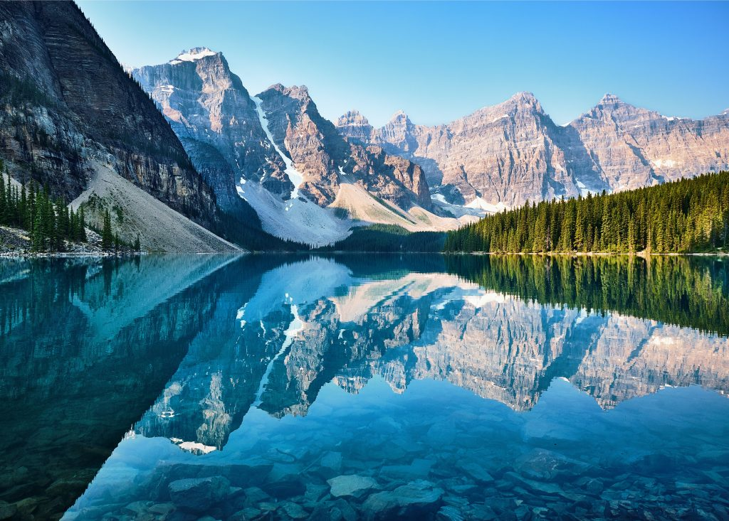 best private vacation spots Moraine Lake, Banff National Park, Canada (Photo by John Lee)