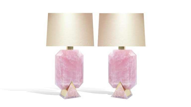Rocco Rock Crystal Lamps by Phoenix @1stDibs