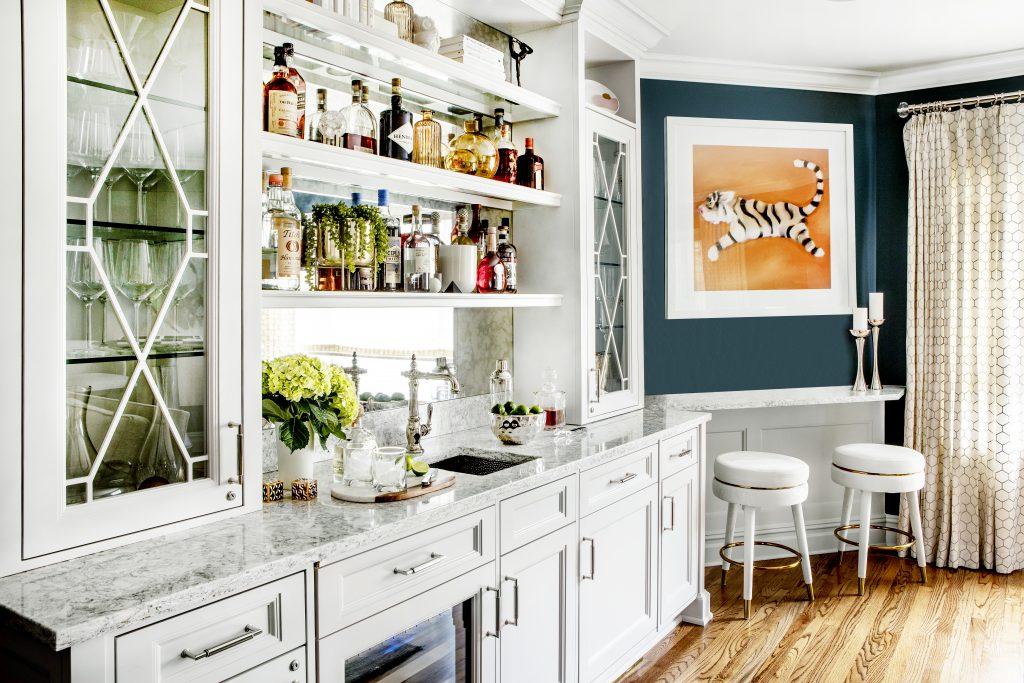 home bar design by marlaina teich designs