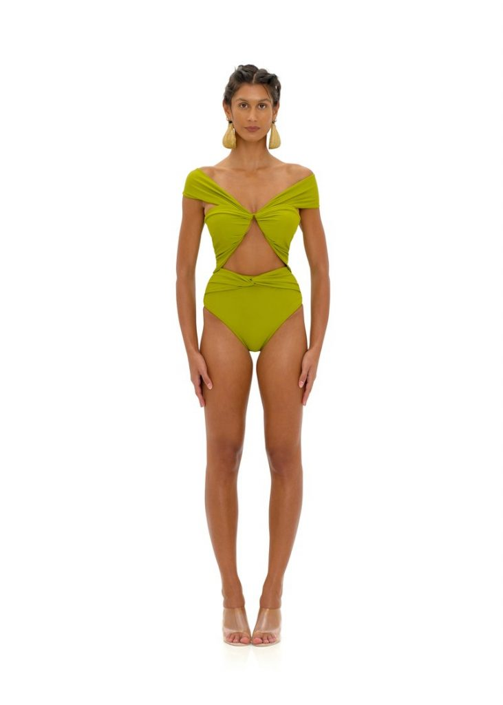 Amina One Piece olive bathing suit summer must have looks