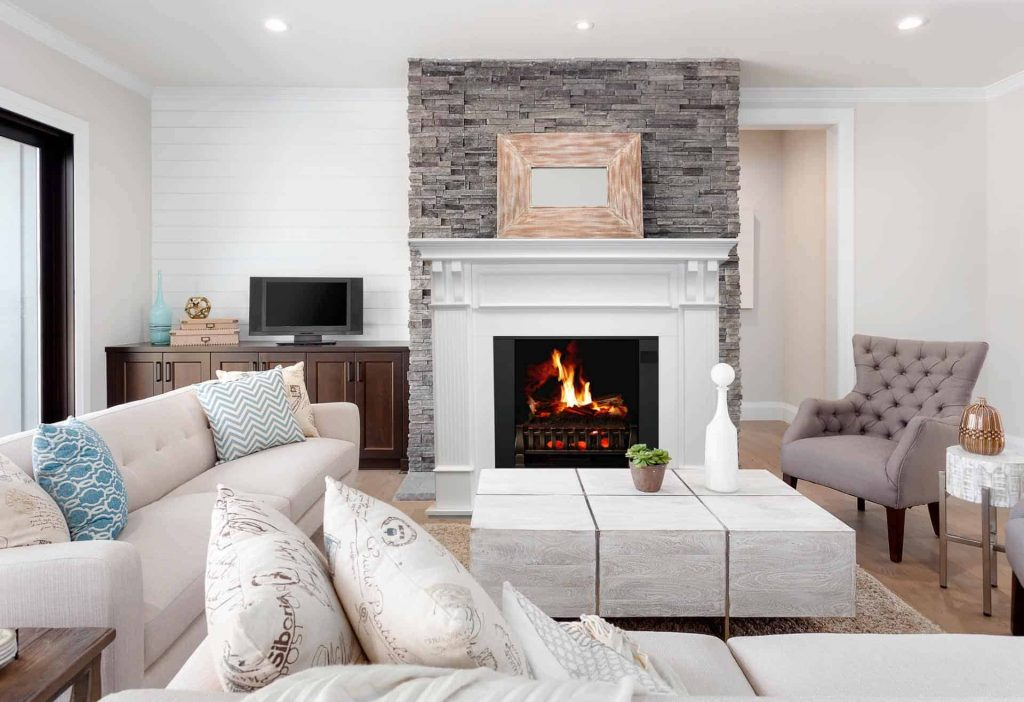 Magik Flame's fireplace interior how to make an old house look new
