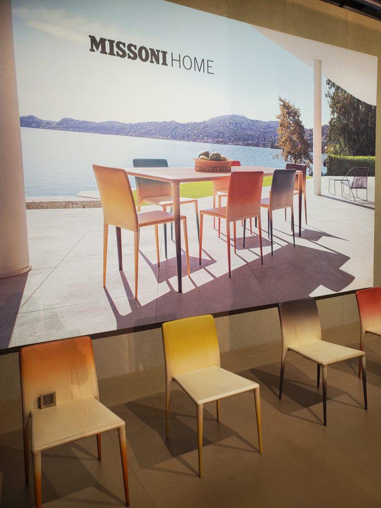missoni home ombre outdoor chairs supersalone 2021 salone del mobile