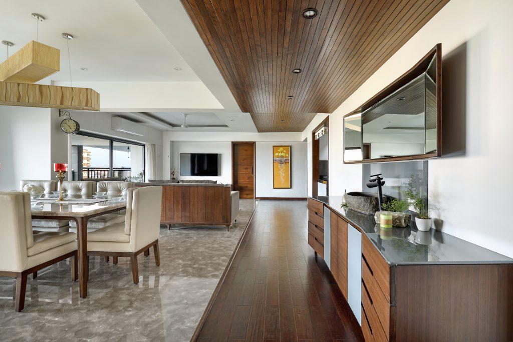 Design by Manish Kumat kitchen dining room living room