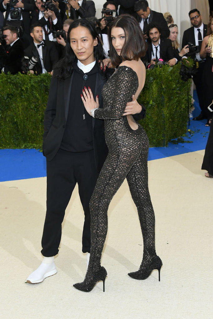 """Alexander Wang and Bella Hadid at the """"Rei Kawakubo/Comme des Garcons: Art Of The In-Between"""" Met Gala 2017 (Photo by Dia Dipasupil/Getty Images For Entertainment Weekly)"""