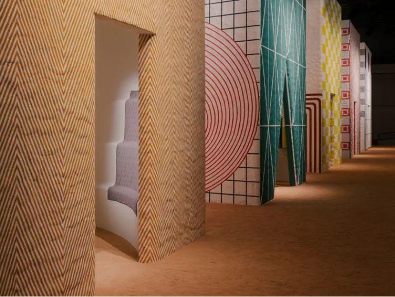 luxury home brands milan Hermès Installation at La Pelota, Milan