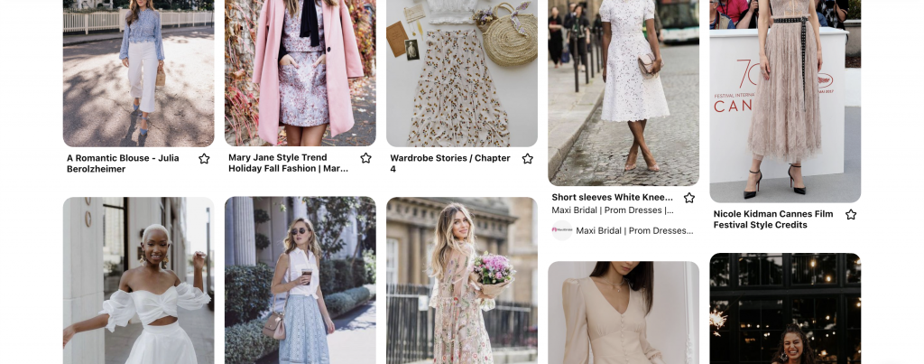 romantic fashion styles pinterest ideas