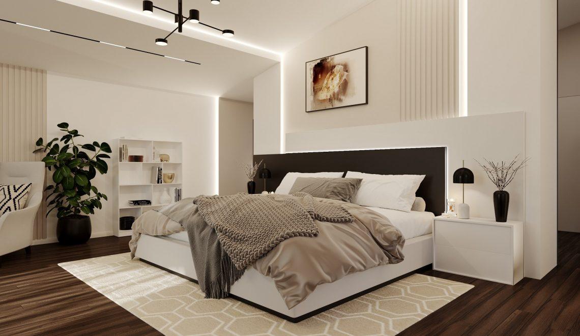 Inspired® Bedroom 3d digital home Rendering online interior design