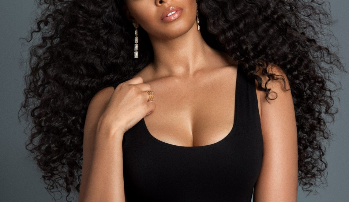 vanessa simmons wearing yummy hair extensions by yummie o