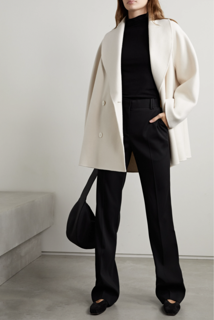 the row polli double breasted wool blend coat autumn fall winter 2021 2022 fashion colors