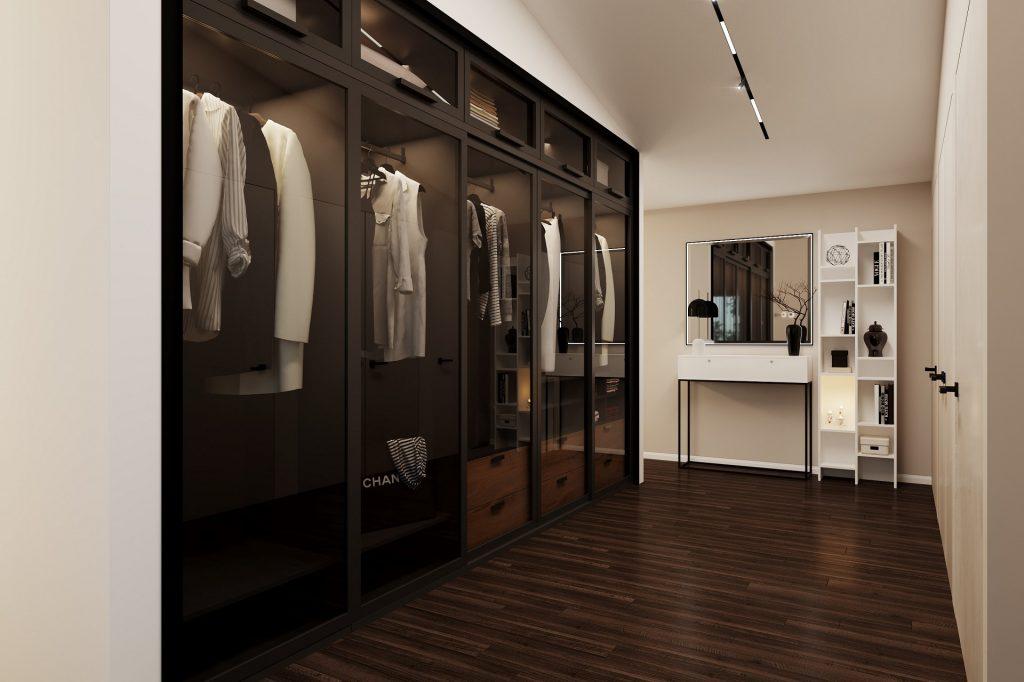 Inspired® bedroom dressing room rendering