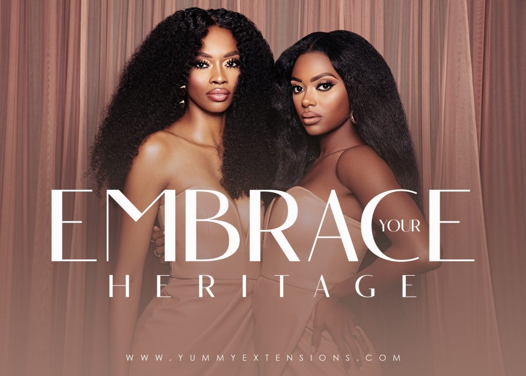 yummie o. yummy extensions - July 2021 #EmbraceYourHeritage campaign to support and encourage women of color to explore and take pride in their ancestry.