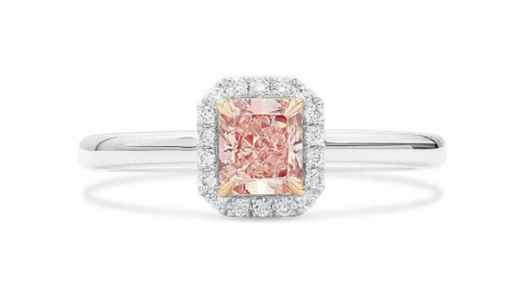 pink diamond engagement rings asterria fancy light pink