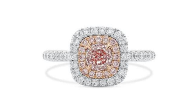pink diamond engagement rings asterria faint light pink