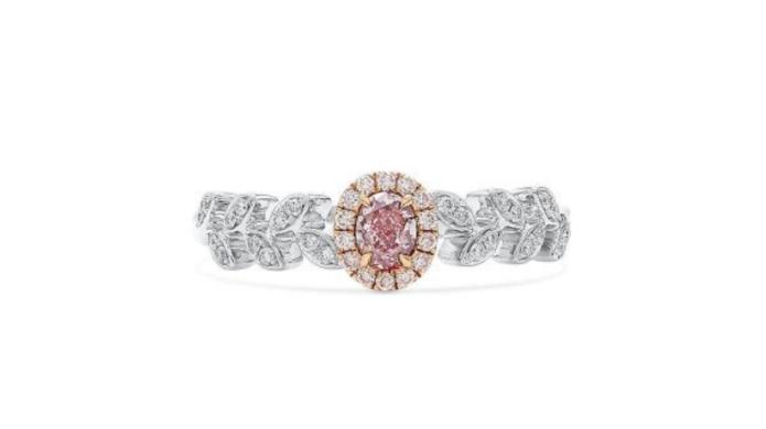 pink diamond engagement rings asterria oval cut fancy purplish