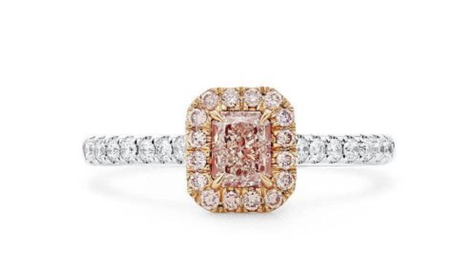 pink diamond engagement rings asterria gia cut