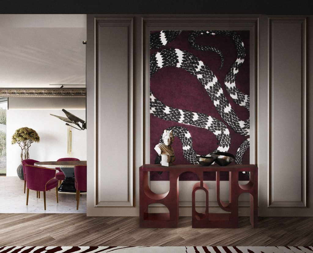 unique wall decor ideas The Snake Rug by Rug Society