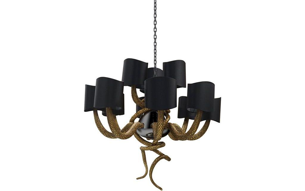 serpentine chandelier koket my object of desire snake luxury lighting