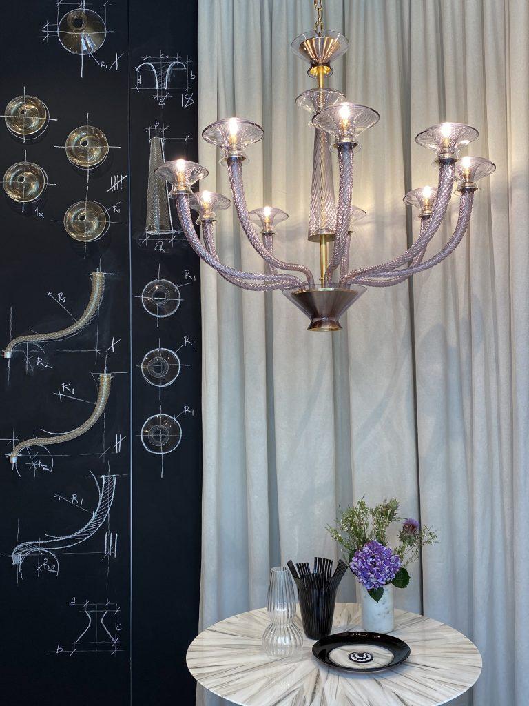milan design week 2021 Vertigo by Barovier & Toso luxury lighting milan design week 2021