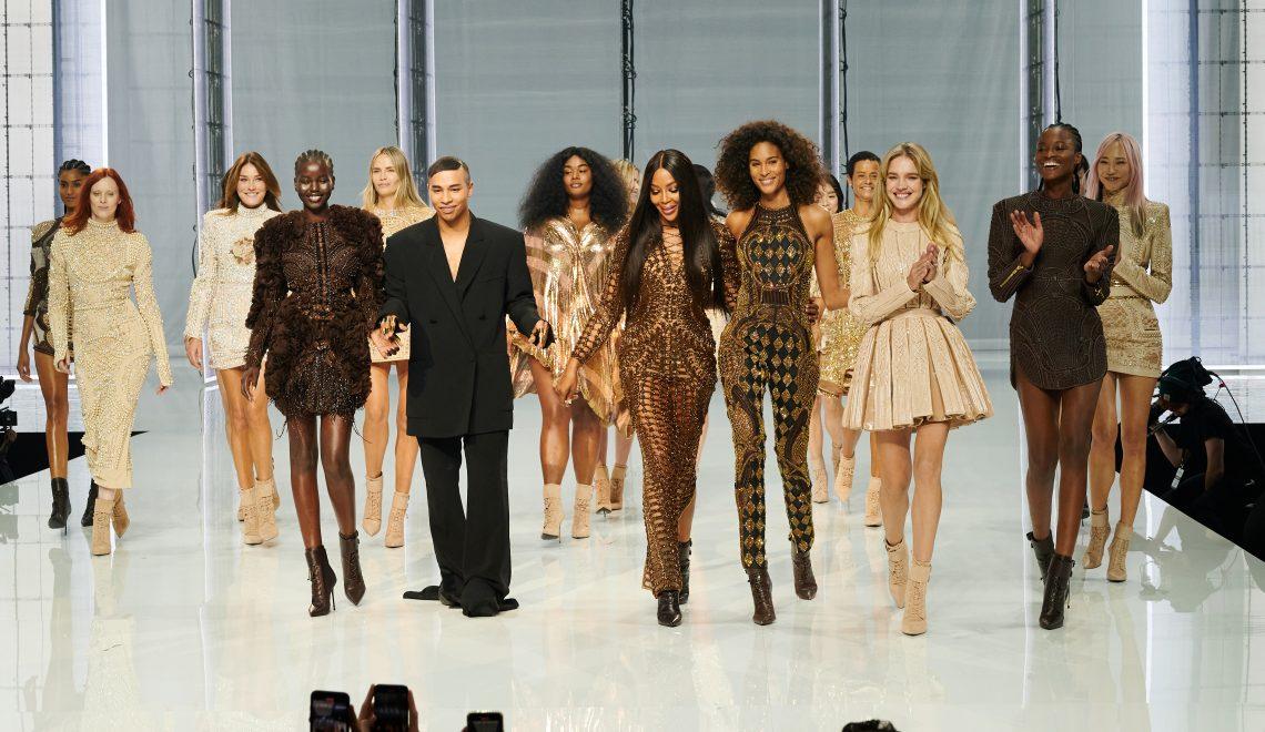 balmain ss22 fashion runway paris