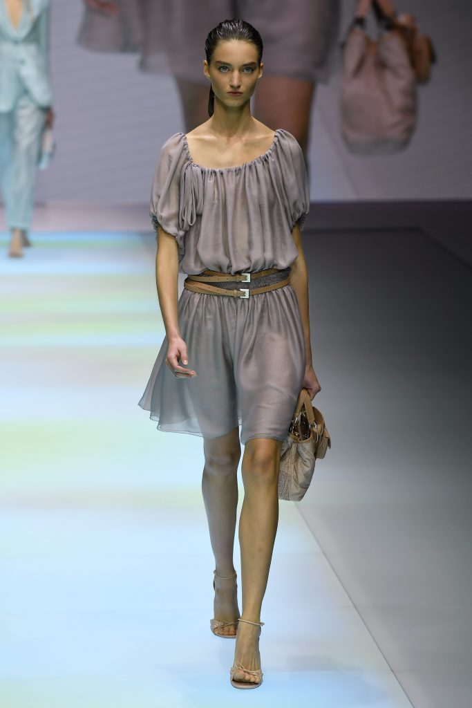 Emporio Armani Runway Milan Fashion Week Spring Summer 2022 on September 23, 2021 in Milan, Italy. (Photo by Victor VIRGILE/Gamma-Rapho via Getty Images)