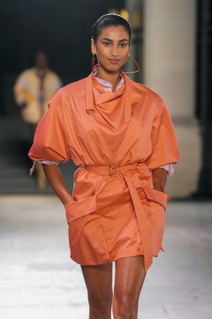Isabel Marant Runway Paris Fashion Week Womenswear Spring/Summer 2022 show on September 30, 2021. (Photo by Peter White/Getty Images)