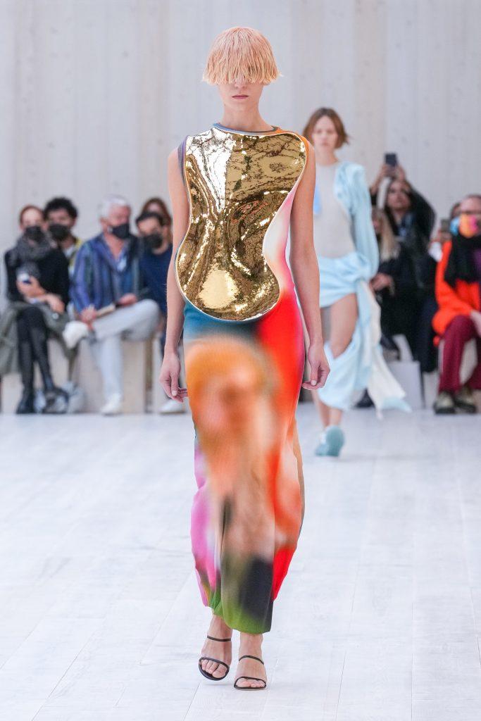 Loewe Runway Paris Fashion Week on October 01, 2021 in Paris, France. (Photo by Peter White/Getty Images)