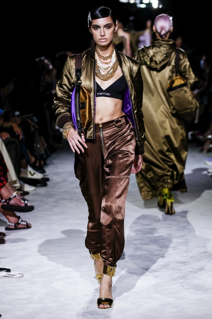 Tom Ford Runway Spring Summer 2022 New York Fashion Week on September 12, 2021 in New York City. (Photo by Victor VIRGILE/Gamma-Rapho via Getty Images)